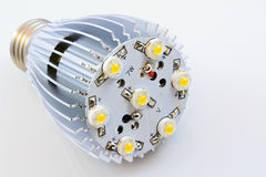 LED light bulbs with 1 Watts SMD chips. Without cover glass Royalty Free Stock Images