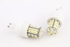 LED light bulbs. Over white background royalty free stock images