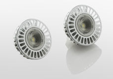 LED light bulbs and shadow, with clipping path. Stock Images