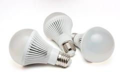 LED light bulbs. LED light bulbs on a white background Royalty Free Stock Photos