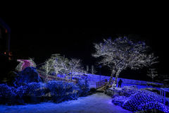 LED light Demo at Lake Toya Royalty Free Stock Photos