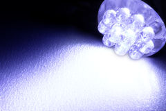 LED light emitting diode. Blue led for car royalty free stock photo