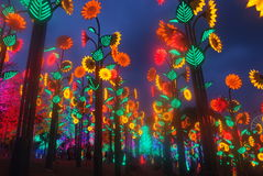 Led Light Festival. In shah alam, Malaysia Royalty Free Stock Image