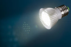 Led light with  flare in beam Stock Images