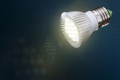 Led light with  flare Royalty Free Stock Images