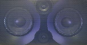 Objects. The led light goes on to the speaker`s shaking beats stock photo