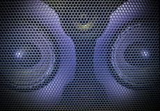 Objects. The led light goes on to the speaker`s shaking beats royalty free stock photography