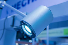 Led light in hightech industry. Glowing led light in hightech industry Royalty Free Stock Photos