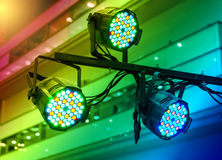 LED Light on mall roof Stock Photography