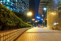 Led light  modern city building night scene royalty free stock images