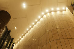 Led  light in modern commercial building Royalty Free Stock Image