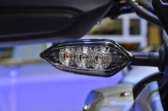 LED light motorbike. Royalty Free Stock Images