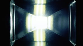 LED light on off stock video footage