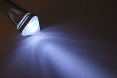 Led light on paper Royalty Free Stock Photo