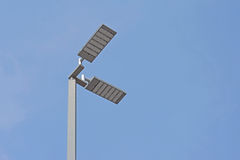 LED light post. With beautiful sky background Stock Images