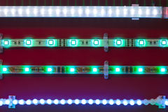 Led light tapes Royalty Free Stock Image