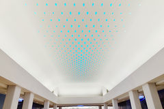 LED light used  on giant modern commercial building ceiling. New type of  LED lighting used  on giant modern commercial building ceiling,China,Asia Stock Image