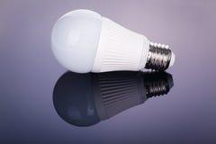 Led lightbulb reflection Stock Image