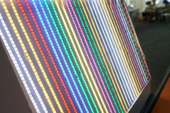 Led lighting belt. Colorful led lighting belt  in a lighting shop ,China,Asia Royalty Free Stock Image