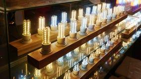 Led lighting bulb shop stock image
