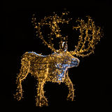 Led lighting decorated Christmas reindeer Royalty Free Stock Photography