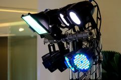 LED lighting equipment, LED PAR stage professional Royalty Free Stock Images