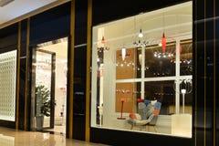 Led lighting furniture shop Stock Photos
