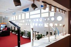 Led lighting shop  window Royalty Free Stock Image