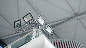 Led lighting modern building hall Stock Photography