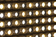 LED lights. Array of LED lights with variable color temperature royalty free stock images