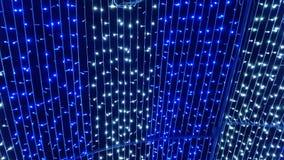 LED lights blue and white Stock Image