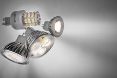 Led lights bulb. Led light bulb  of gray Stock Photo