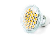 LED lights bulb. Of white Stock Photo