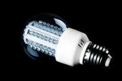 LED lights bulb. Isolated on black background Stock Photo