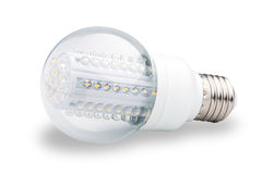 LED lights bulb  of white Royalty Free Stock Photography