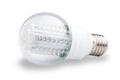 LED lights bulb  of white. Background Royalty Free Stock Photography
