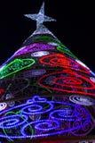 Led lights of christmas tree royalty free stock photo