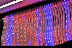 Led Lights Decorated On Exterior Wall Of Building Stock Photography