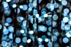 LED lights for decoration. With light bokeh royalty free stock images