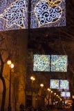 Led lights decoration of street royalty free stock photos