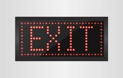 Led lights exit sign Stock Image