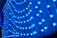 Led  lights  exterior wall of modern building Stock Photography