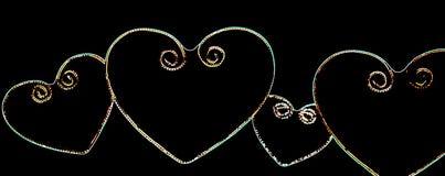 LED lights hearts Royalty Free Stock Photos