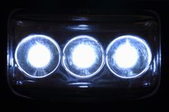 Led lights in the night. As nice background royalty free stock image