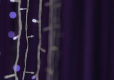 LED lights Purple Background Stock Photo