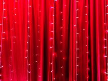 LED lights on red certain fabric backdrop as the abstract background. LED lights on red certain fabric backdrop as abstract background stock images