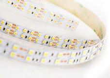 Led lights strip on white background. Stock Photos