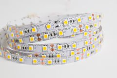 LED ligts strip for decoration of interiors. LED ligts strip for decoration of interiors on white background. LED tape royalty free stock image