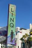 LED Linq签到拉斯维加斯, 2014年1月04日的NV 免版税图库摄影