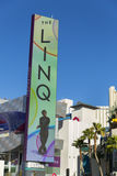The LED Linq Sign in Las Vegas, NV on January 04, 2014 Royalty Free Stock Photography